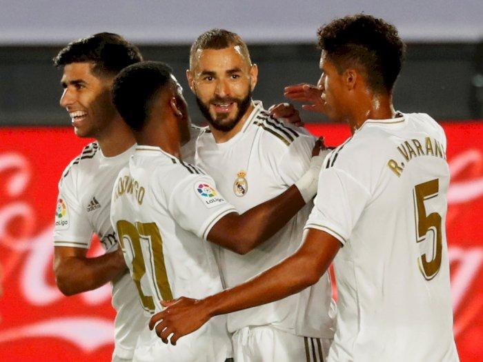 FOTO: Kalahkan Alaves, Real Madrid Menjauh dari Barcelona