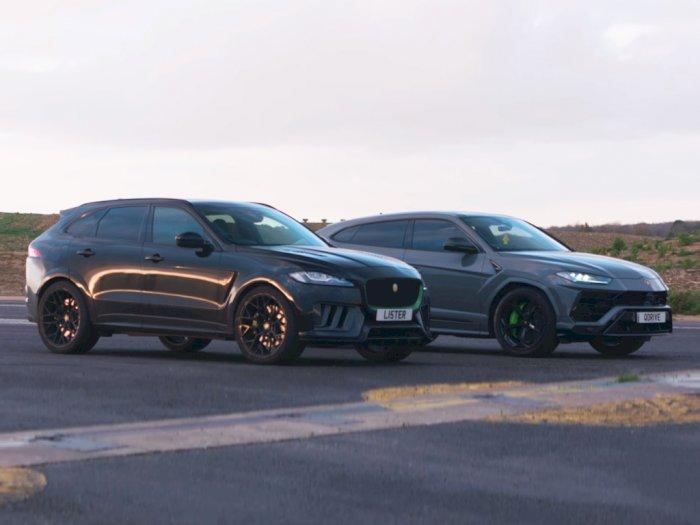 Pertarungan Drag Race SUV Antara Lamborghini Urus dan Lister Stealth