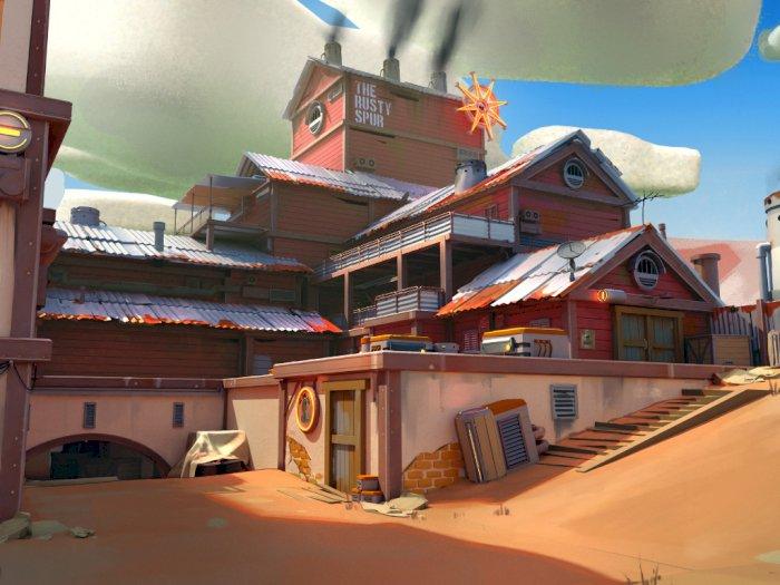 Seperti Ini Tampilan Map Dust 2 CS:GO Jika Dibuat dengan Style Overwatch!