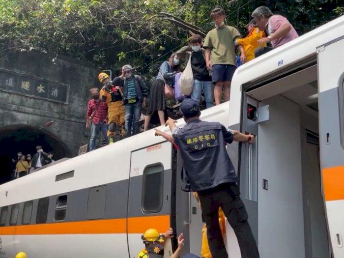 Kereta Cepat di Taiwan Alami Kecelakaan di Terowongan, 48 Orang Tewas