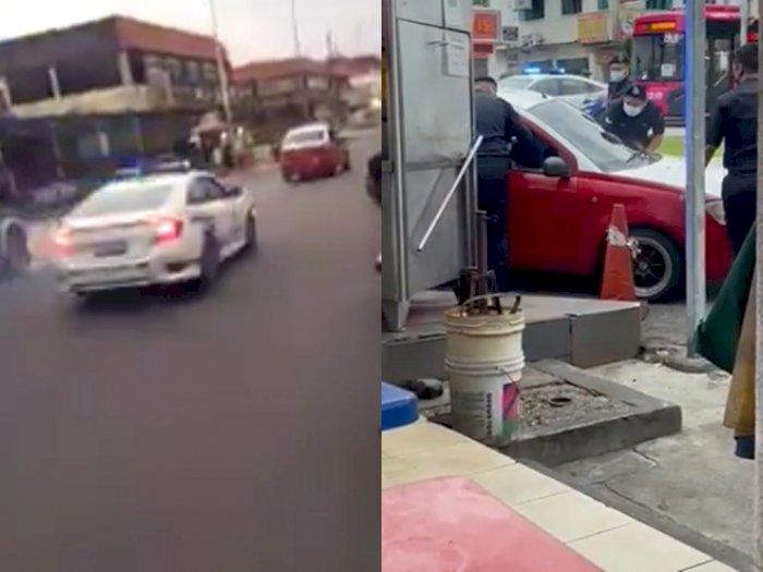 Viral Video Polisi Mengejar & Hancurkan Jendela Taksi saat Melarikan Diri dari Pemeriksaan