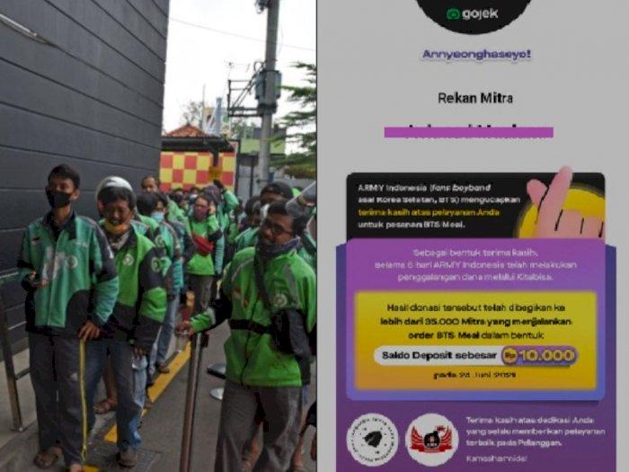 Pembagian Donasi Rp159 Juta dari BTS ARMY ke 35 Ribu Driver Gojek: Rp10 Ribu Per Orang