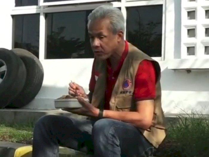 Diajak Makan Wali Kota Pekalongan, Ganjar Pilih Makan Bekal di Parkiran, Ikuti Aturan PPKM