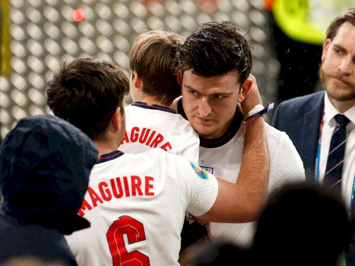 Ayah Harry Maguire Patah Tulang Rusuk Setelah Terinjak-injak saat Final Euro 2020