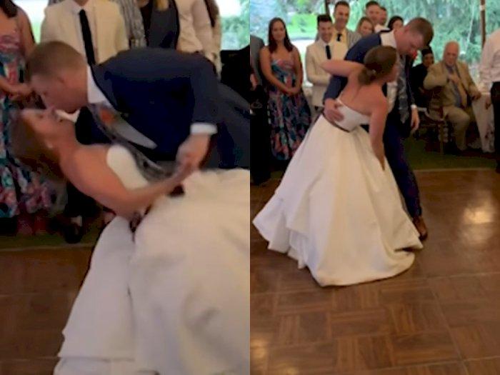 Video Mempelai Wanita Lututnya Terikilir saat Berdansa dengan Suami di Acara Pernikahan