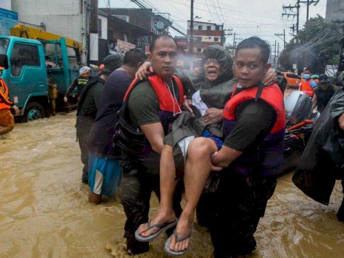 Pandemi Belum Reda, Kini Manila Diterjang Banjir, Ribuan Warga Mengungsi