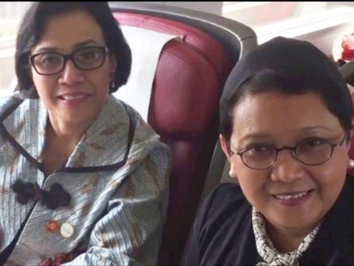 Pesan Manis Sri Mulyani untuk Menlu Retno yang Ternyata Sahabatan, Netizen: Salut!
