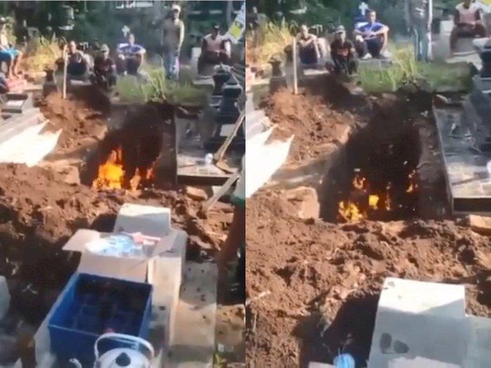 Viral, Video Liang Lahat Mengeluarkan Api Usai Digali, Netizen Sebut karena Ini!