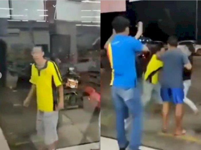 Pria Mabuk Rusak Barang dan Minta Rp10 Juta ke Kasir Minimarket, Berujung Digebuki Warga