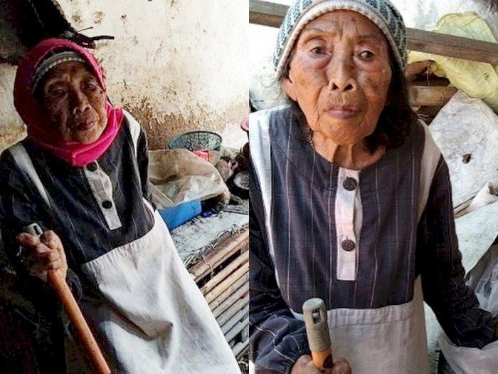 Kehidupan Pilu Nenek Pemulung Sebatang Kara, Cuma Makan Nasi 'Berkuah' Air Hujan