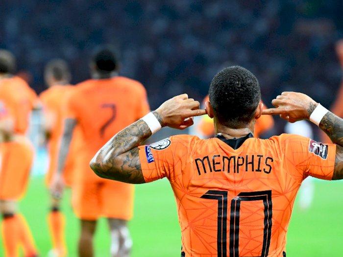 FOTO: Kualifikasi Piala Dunia 2022, Belanda Gilas Turki 6-1