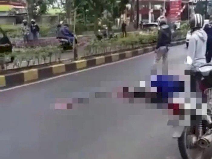 Mengenaskan, Pemotor Tewas Terlindas Truk di Cianjur, Jatuh saat Nyalip Angkot