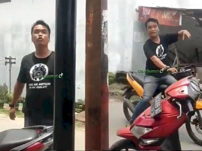 Pria Ngaku Anggota Ormas Ribut dan Ancam Pedagang Buah di Medan, Ngamuk Tak Diberi Uang